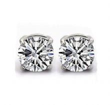 Clearest Crystal Round Stud Earrings